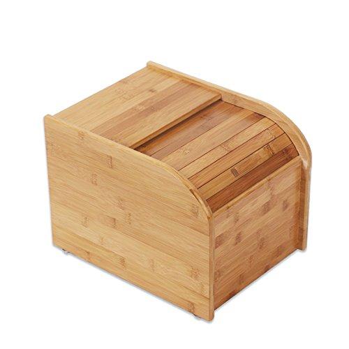 ZWL Boîte de stockage de grain, Boîte de riz en bois solide Boîte de rangement de céréales Pest Control Préservation de l'humidité Conservation Cuisine Ménage Grain Storage Box 5-15 kg Récipient sain de stockage de céréales ( Capacité : 15kg )