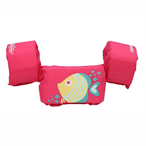 Stearns Original Puddle Jumper Kids Life Jacket | Life Vest for Children, Pink Fish
