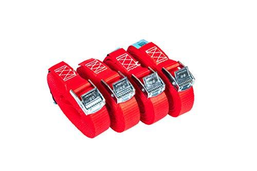 PKD 720 Zurrgurte mit Klemmschloss die Mini Spanngurte mit dem Schnellverschluss eigenen Sich hervorragend für die schnelle Sicherung im Auto, Fahrradträger, Sackkarre und beim Umzug