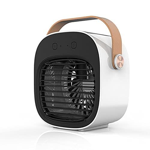 FCMU Mini ventilador portátil de refrigeración por agua USB, enfriador de aire humectante de escritorio, refrigeración rápida, sin ruido (apto para todas las escenas), color blanco