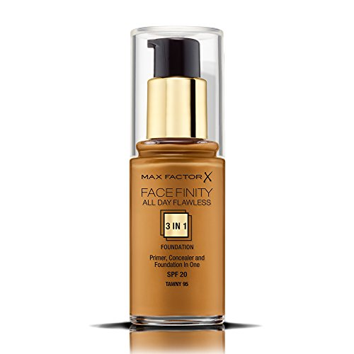 Max Factor Face Finity All Day Flawless 3 in 1 Foundation 30ml - 95 Tawny,