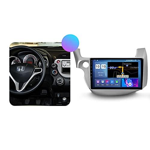 ADMLZQQ Autoradio Coche Bluetooth 2 DIN Android Radio De Coche 10.1'' Pantalla Táctil 5G WiFi Plug and Play Soporte Carautoplay/GPS/Dab+/OBDII para Honda Jazz/Fit 2007-2014,Lhd,M500S