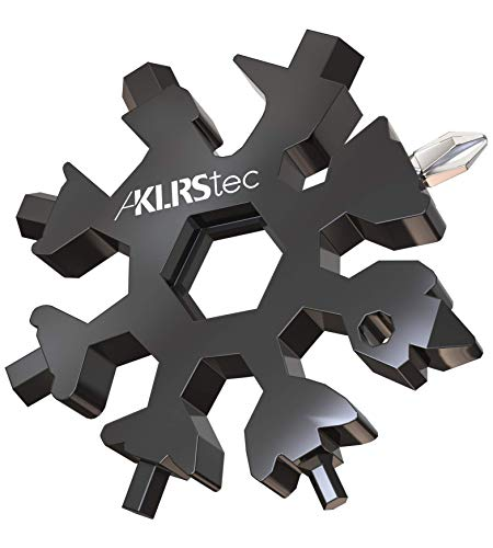 """KLRStec® Multifunktionswerkzeug\""""Schneeflocke\"""" - 18 in 1 Multitool aus Edelstahl I Das perfekte Geschenk für Handwerker"""