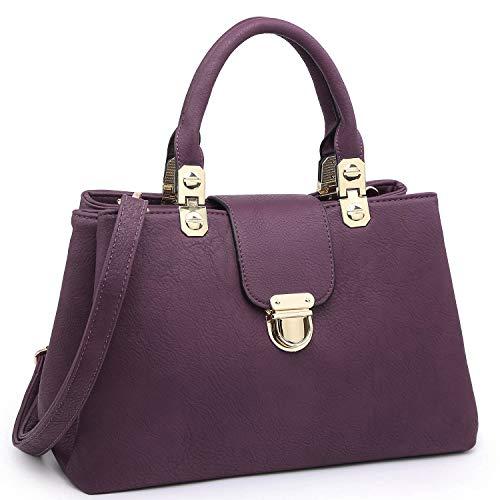 Buckle Satchel Handbag - 6