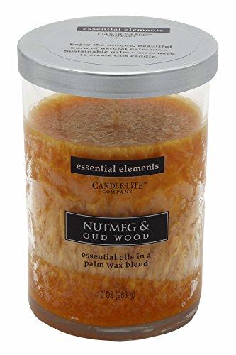 Candle-lite - geurkaars in glas, Nutmeg & Oud Wood 283g, oranje, 8,5 x 8,5 x 12 cm