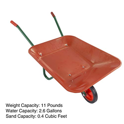 Kids' Gardening Wheelbarrow - 2.6 Gallons Orange Unisex