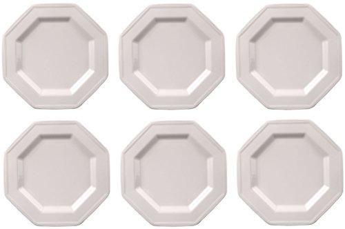 Johnson Bros Heritage White - Juego de 6 platos llanos (27 cm), color blanco