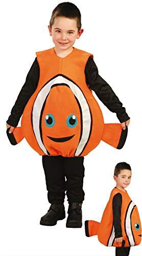 FIESTAS GUIRCA Disfraz pez Payaso Infantil niña Talla 5-6 años