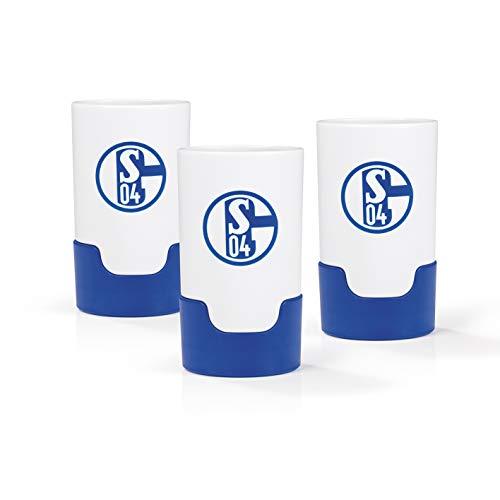 Taste Hero Flaschenaufsatz für Bier 3 Stück Fan-Edition FC Schalke 04   Macht jede Bierflasche zum Zapfhahn   Für Glas- und PET-Flaschen, spülmaschinengeeignet