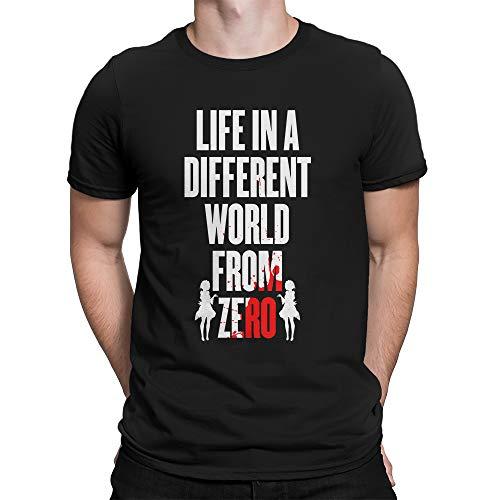 Geek me that Camiseta Re Zero Life in a Different World from Zero Rem Natsuku Subaru T-Shirt Anime Manga Otaku Cosplay Regalo Geek Unisex Shirt