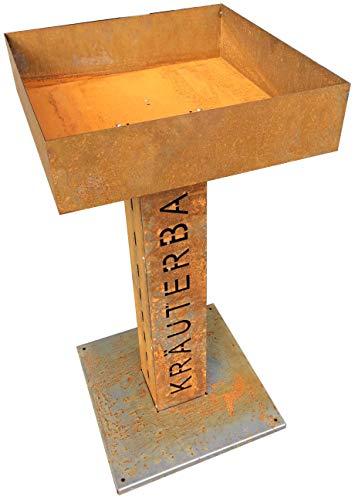 Metalltechnik Dermbach GmbH Kräuterbar Kräuterbeet Hochbeet Frühbeet Säule in Edelrost