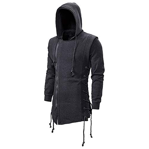 U/A Herren Assassin's Creed Sweatshirt Dark Hooded Loose Jacke Gr. L, grau