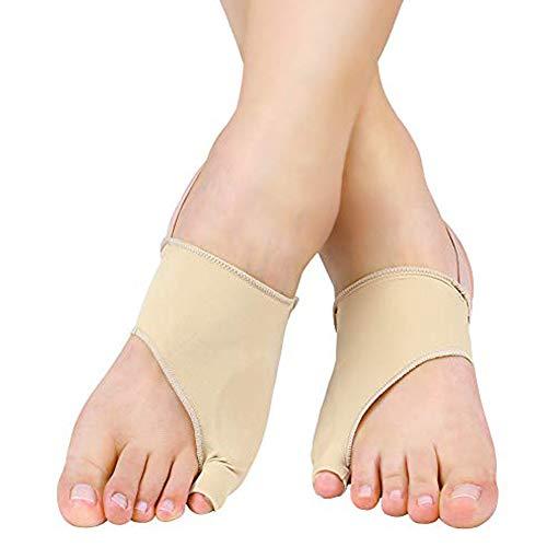 corrector de juanetes de gel y separador de dedos de gel, 1 Pair Férulas para juanetes Funda de Tela con Separador de gel para proteger los de dedos pies para separador dedo martillo