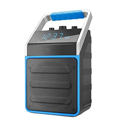 Wekker draagbare Bluetooth luidspreker buiten luidspreker versterker FM-radio wekker Blauw