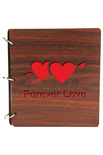 Sehaz Artworks ForeverLove-9X8 80 Photos Wooden Photo Album for Memorable Gift on Boyfriend Girlfriend Husband Wife Spouse Birthdays, Valentines Day, Anniversary, Monthsary for Couples