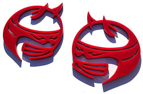 Custom Scat Pack Fender Emblem Badges (Red) for Dodge Challenger and Charger