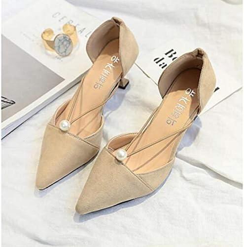 ZHZNVX Wohommes chaussures PU(Polyurethane) Spring & Fall Comfort Basic Pump Heels Stiletto Heel noir Beige