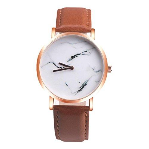 クリアランス!!!レディース腕時計、jushye Girls腕時計新しい大理石サーフェスステンレススチールBandレザーMovement手首腕時計 マルチカラー