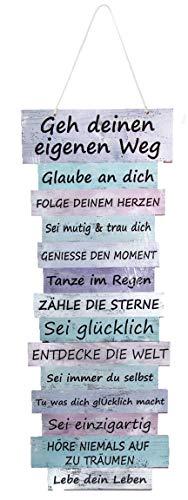 Bada Bing Wandschild Ca 41 x 15 cm Schild Lebenseinstellung Pastell Wegweiser GEH Deinen Weg Als Wanddekoration Bild Mit Angesagtem Spruch Wanddeko Trend Geschenk 14