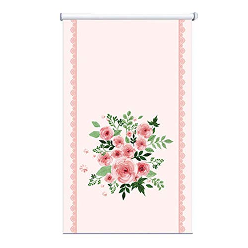 Raumverdunklungsrollo - Pink Stoffrollos friert Küche/Schlafzimmer - ohne Bohren - 60/70/80/90/100/110/120/130/140 cm Breite (Size : 140x160cm)
