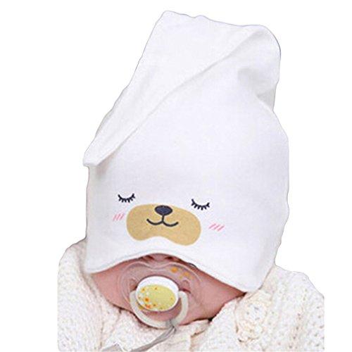 HENGSONG Nette Kind Baby Neugeborene Schlaf Hut Strick Beanie Mütze Kappe (Weiß)