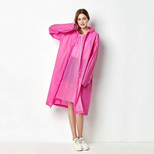 Goldenla EVA-kunststof, transparant, lang, sport, draagbaar, regen, eenvoudig voor volwassenen, alleen buiten wandelen.