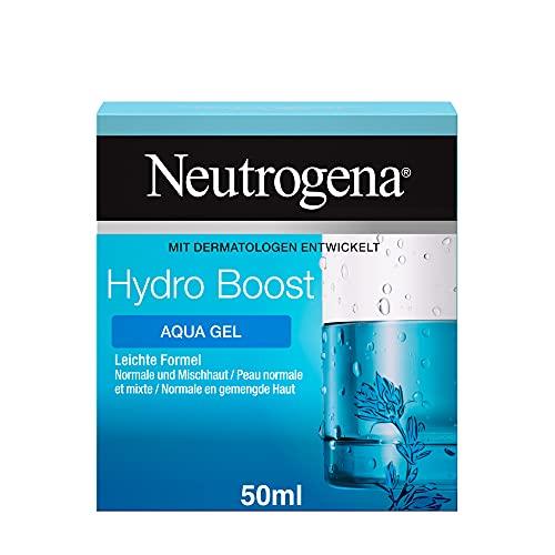 Neutrogena Hydro Boost Gesichtscreme, Aqua Gel mit Hyaluron, ölfrei, für Normale und Mischhaut, 50ml