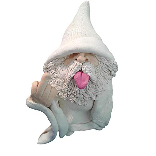 Taloit Gartenfiguren & Gartenstatuen, Garden GNOME, Gartenzwerg Wetterfest Figur, Smoking Wizard Big Tongue GNOME Naughty Garden GNOME für Rasenschmuck Innen- oder Außendekorationen