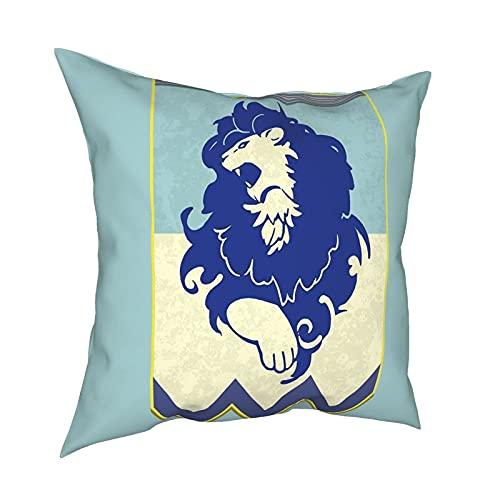 DRXX Fire Emblem 3 Houses Blue Banner Tapiz Funda de Almohada Moda Cuadrada Funda de Almohada Decoración Throw Pillow Cover 18 X 18 Pulgadas 45 X 45 cm