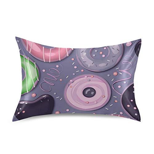 iRoad - Funda de almohada de microfibra 100% para cabello y piel, tamaño estándar 50,8 x 66 cm