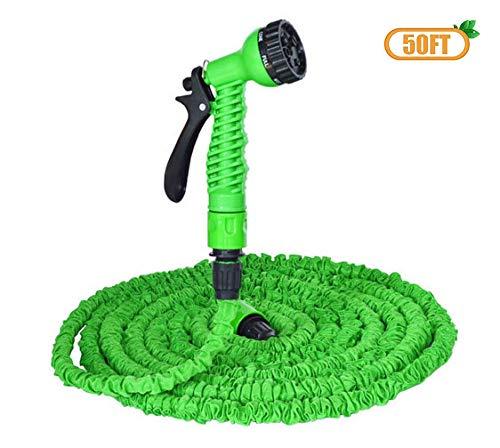 DZTIZI tuinslang - 50 voet set groen, uitbreidbare waterslang, uitbreidbaar lichtgewicht en duurzaam waterslang, extra sterkte textiel