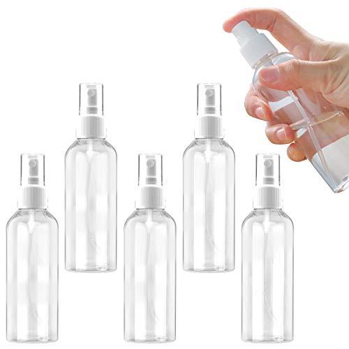 Ossky Botellas Spray Vacía De Plástico Contenedor de Pulverizador, Aplicar para Viaje Conjunto de Botellas,Adecuado para primeros auxilios, líquidos químicos, limpieza, cocina(5 * 100 ML)