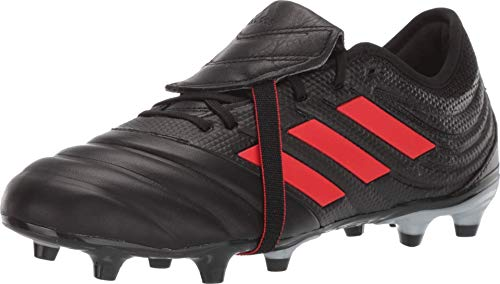 adidas Men's Copa Gloro 19.2 Firm Ground Soccer Shoe, Black/hi-res red/Silver Metallic, 8 M US