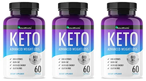 Keto Diet Advanced by Natura Miracles/QFL™ -800MG - 180 Capsules - 90 Days Supply (3 Bottles)