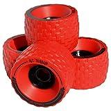 MBS All-Terrain Longboard Wheels (4) - Red, 100 mm