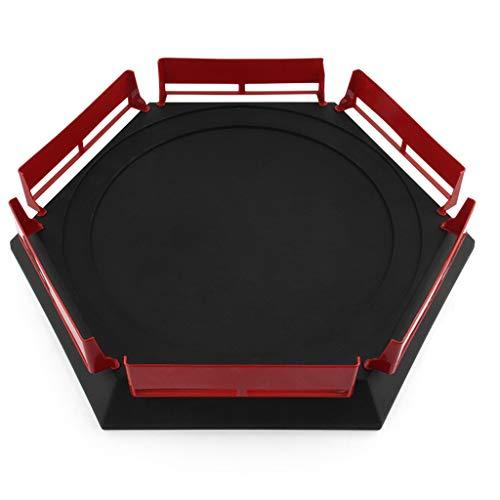 BENGKUI Gyro Arena Disk, Nueva Empresa Beyblad Burst Gyro Arena Disk Spinnig Top Toy Accessories Beyblad Stadium Kids Borde Rojo sobre Negro