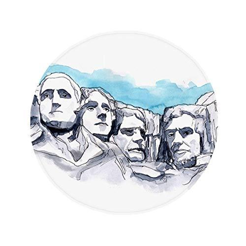 DIYthinker Americana Rushmore National Memorial Antideslizante Piso Estera del Animal doméstico Ronda...