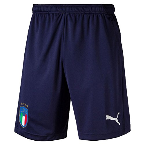 PUMA Men's FIGC Italia Training Shorts Zipped Pockets, Peacoat, S