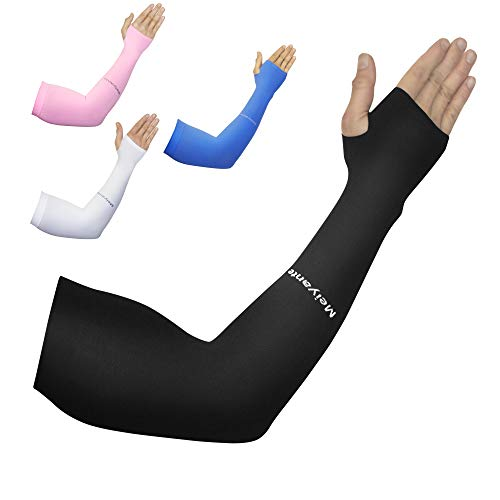 Long Sleeve Arm Sleeve for Men & Women Pair Forearm Sleeve Ideal Sun & UV Protection Cooling Fitness Compression Tattoo Cover Up Sleeves To Cover Arms For Men & Women Shooting Sleeve Basketball Sleeve mens stocking stuffer