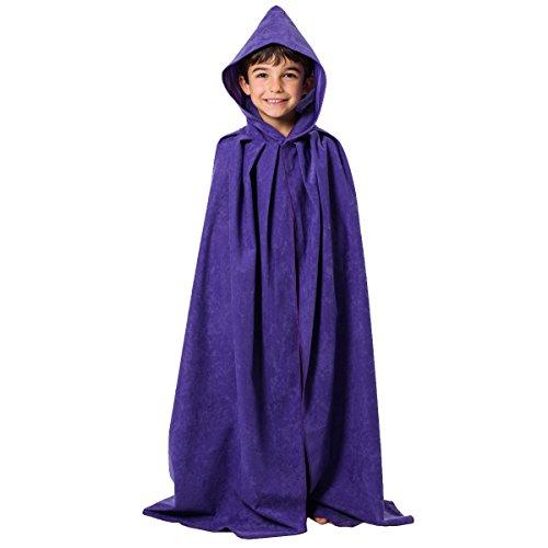 Charlie Crow Violet. Déguisement Cape avec Capuche déguisement pour Les Enfants. Taille Unique 8-10 Ans.