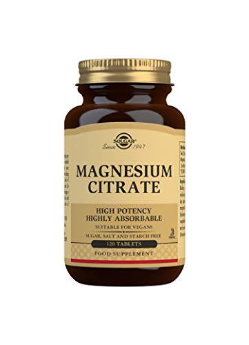 Solgar Citrato de Magnesio, 120 Comprimidos