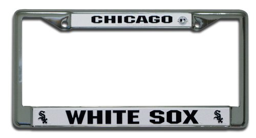 Rico Industries FC4101 MLB Chicago White Sox Chrome License Plate Frame