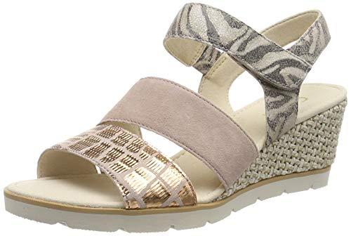 Gabor Shoes Damen Gabor Basic Riemchensandalen, Mehrfarbig (Antikrosa 34), 38 EU