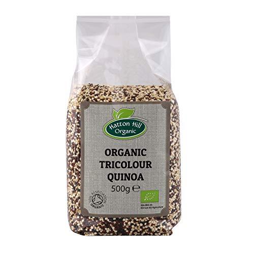 Bio Tricolor Quinoa 500g (Schwarz, Weiß & Rot) von Hatton Hill Organic - BIO zertifiziert
