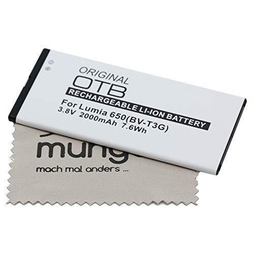Batería de Repuesto para Microsoft Lumia 650 (Equivalente a batería Original BVT-3G) OTB con mungoo pantalla paño de limpieza