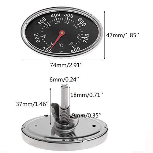800 ℉ Oval BBQ Pit Raucher Grill Thermometer Ersatz Camping Kochen Temp Wärmeanzeige Zifferblatt Temperaturanzeige