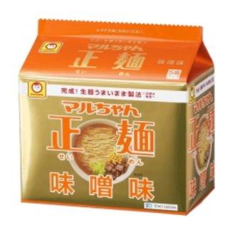 東洋水産 マルちゃん正麺 味噌味 1箱5食入×6袋