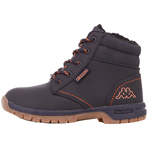 Kappa Unisex-Kinder Cammy FUR Klassische Stiefel, 6744 Navy/orange, 34 EU