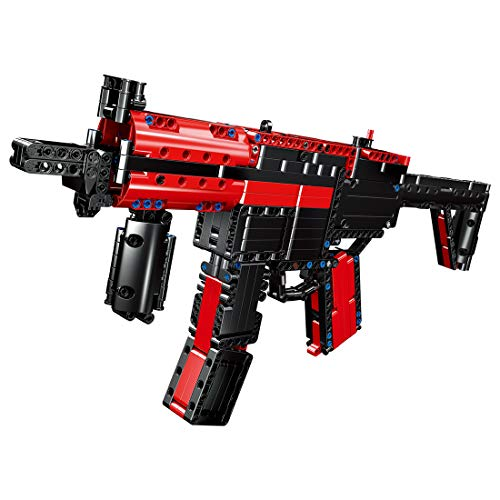 Oeasy Technic - Bloques de construcción para armas, 676 piezas MP5 Submachine Blaster con balas, juego de construcción militar, compatible con Lego