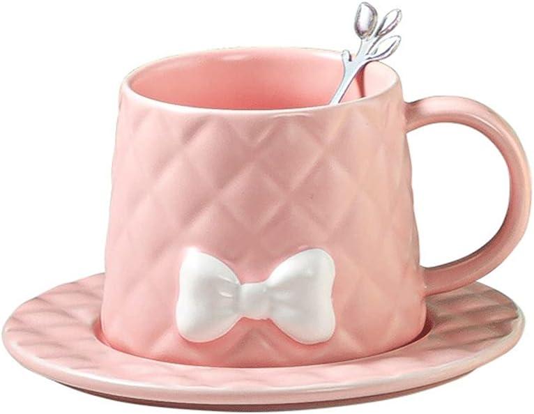 Coffee Cup Many popular brands European Style Bow Overseas parallel import regular item Creative Embossed Ceram Office Mug